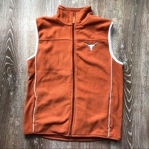 University of Texas Longhorns fleece vest
